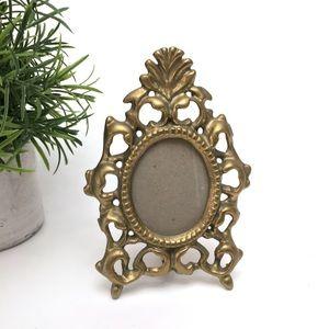 Vintage Brass Ornate Baroque Small Photo Frame